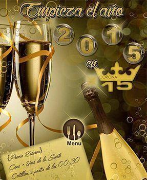 Diseño Cartel Noche Vieja Corona 15