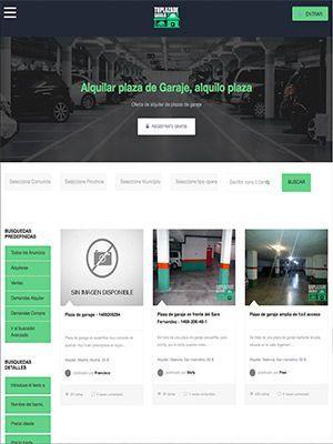 web tu plaza de garaje