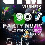 Cartel para CTM fiesta de los 90