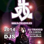 Cartel para DJ TrAsGo