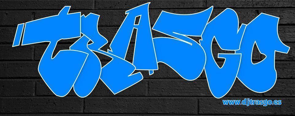 Ilustración de un grafiti real