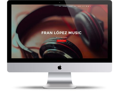 Diseño de páginas web de artistas musicales, djs, grupos de música
