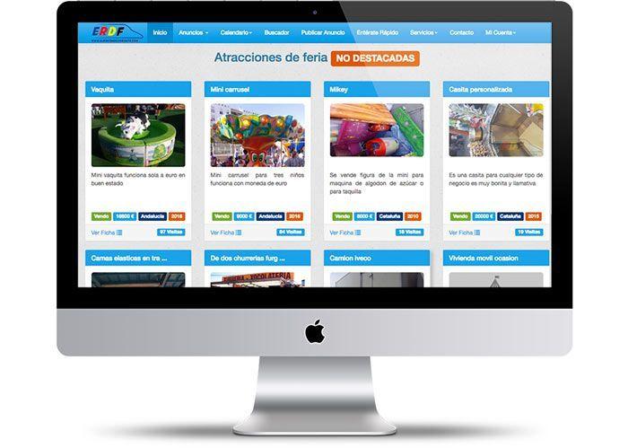 Rediseño de página web de El Rincón del feriante, portal de anuncios