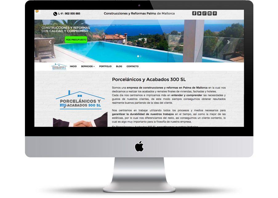 Página web de Servicios de Reformas y Construcciones en Palma de Mallorca