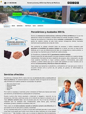 pagina web porcelanicos inicio