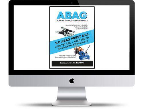 Diseño de panfleto publicitario A5 para ABAG