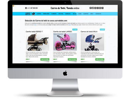 Desarrollo a medida de tienda online de carros de bebé