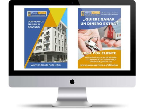 Panfletos publicitarios para Mercaservice Inmobiliaria