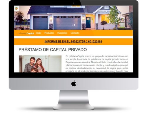 Página web barata – Préstamo Capital