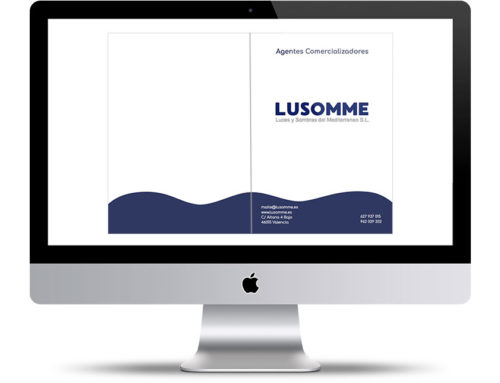 Carpetas corporativas porta documentos para inmobiliaria Lusomme