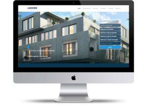 interface de la página web inmobiliaria lusomme
