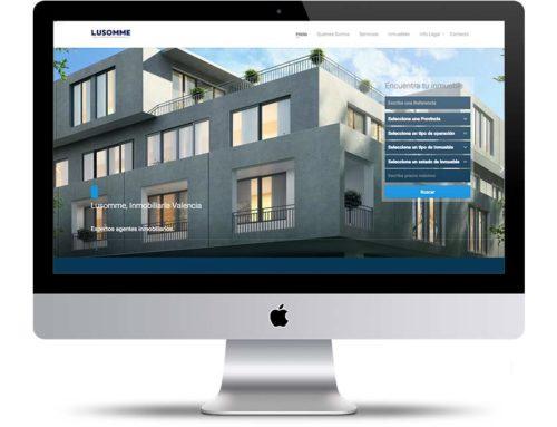 Web Inmobiliaria auto administrable para Lusomme