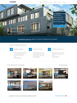 Web inmobiliaria lusomme últimos trabajos
